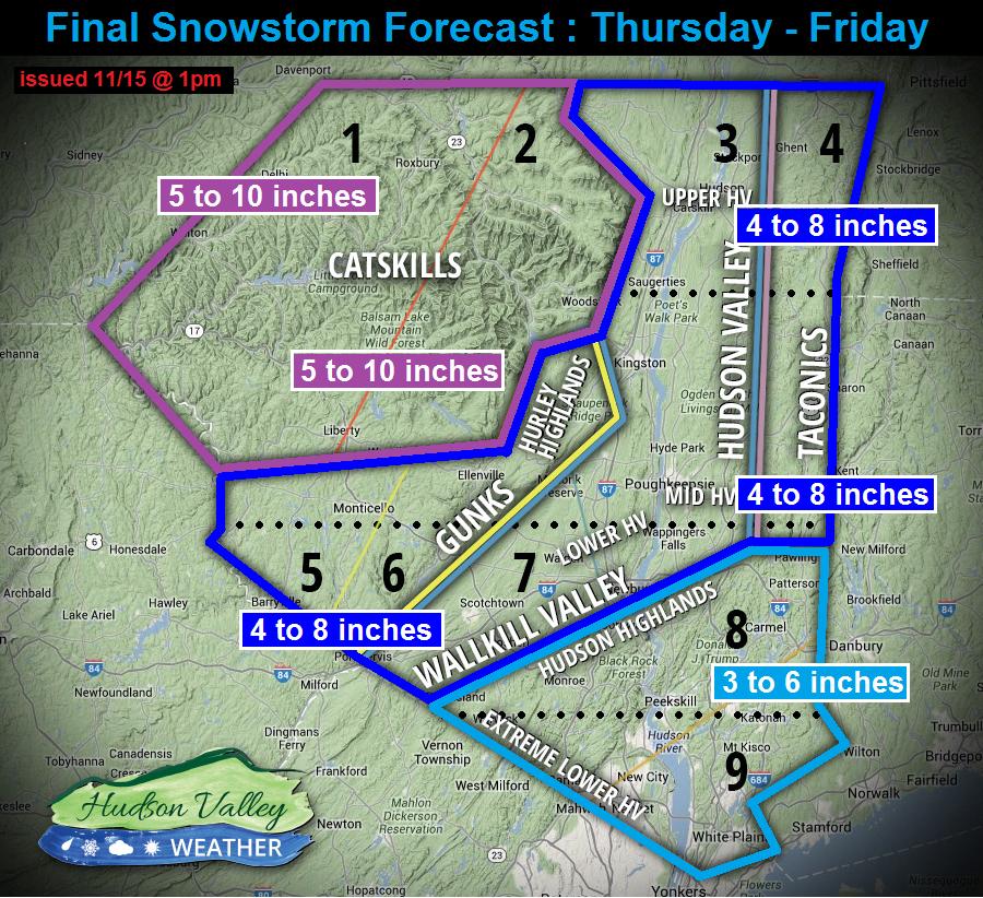 Winter Storm Recap : Nor'easter Thu 11/15 – Fri 11/16