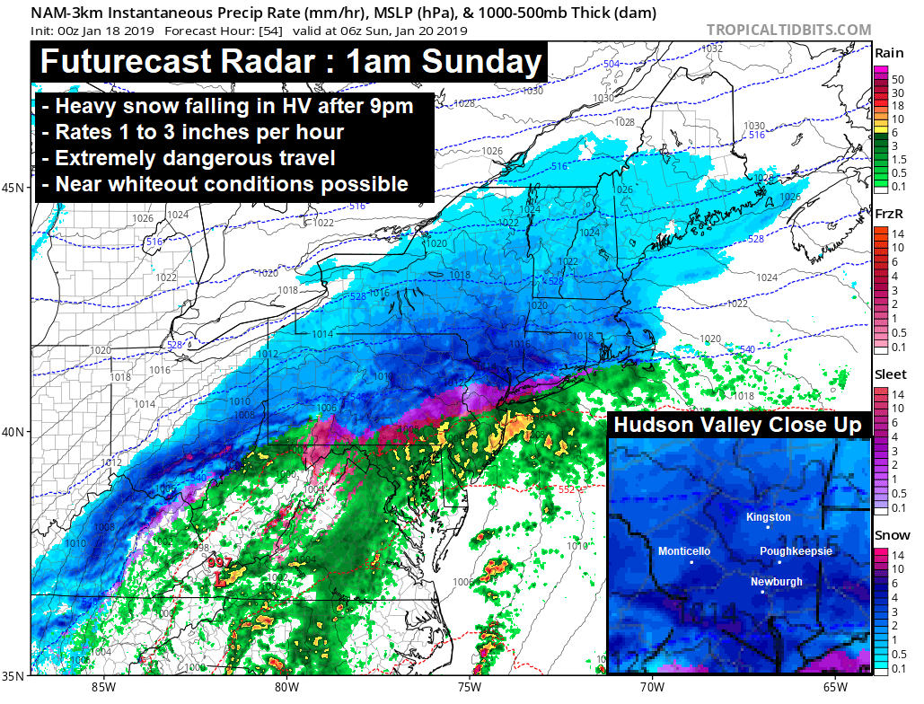 Revised) Final Winter Storm Forecast : Saturday Night
